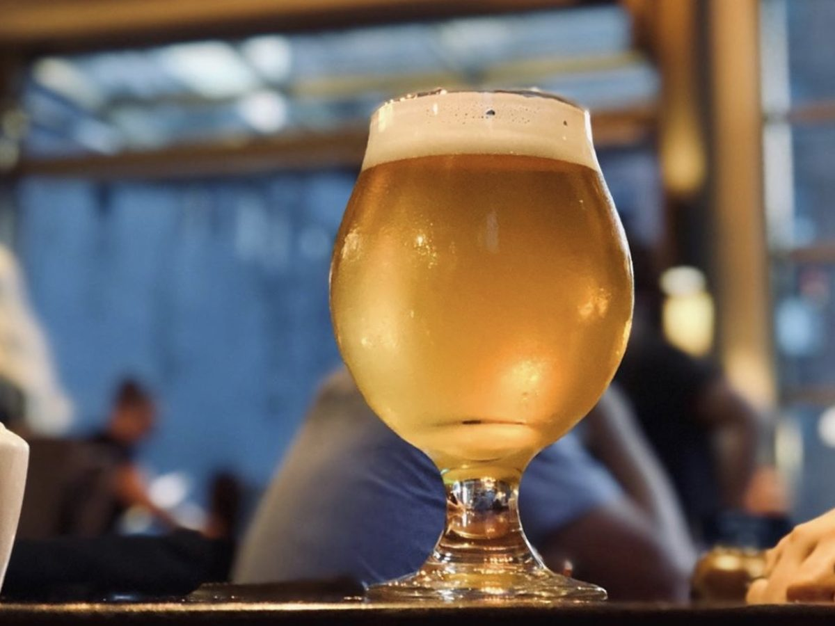 Craft beer at a bar in Buffalo
