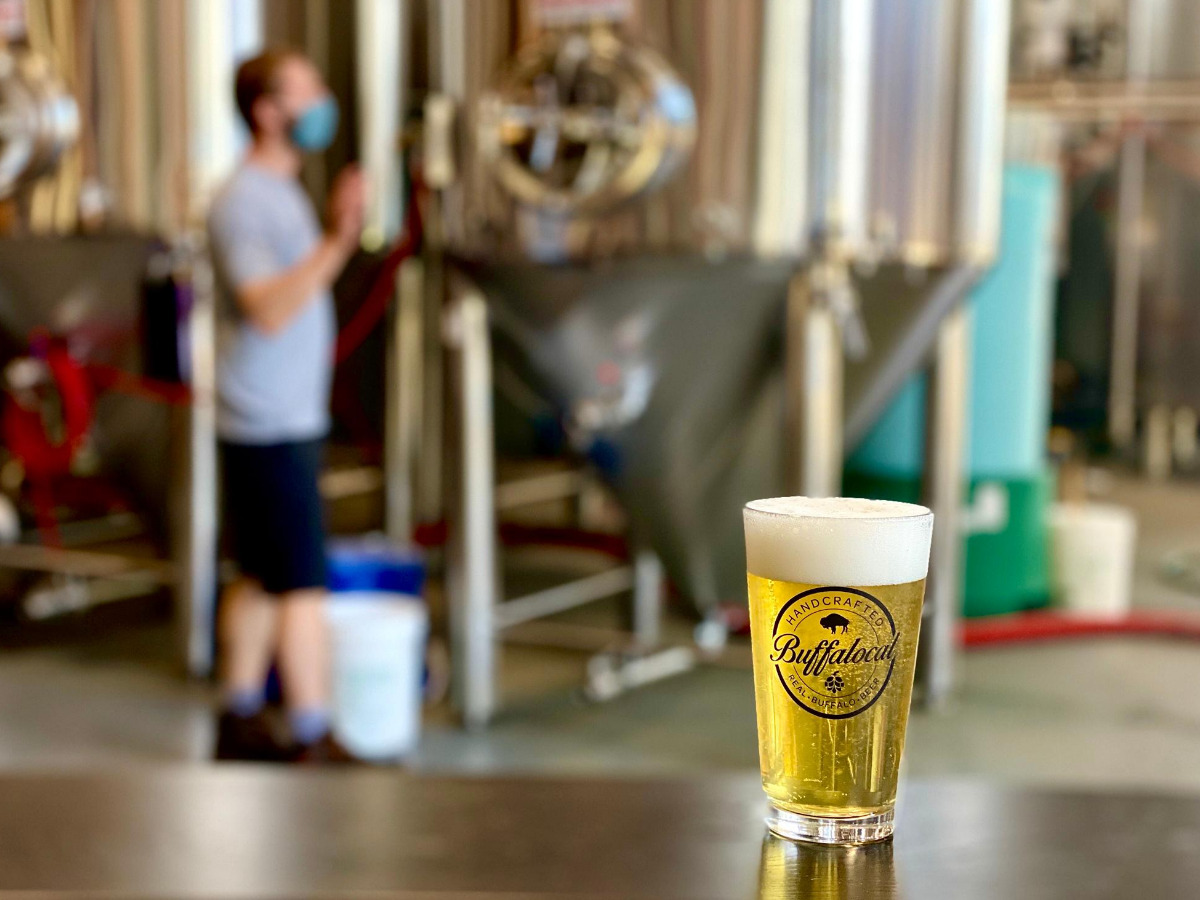 Brewer making Craft beer in Buffalo