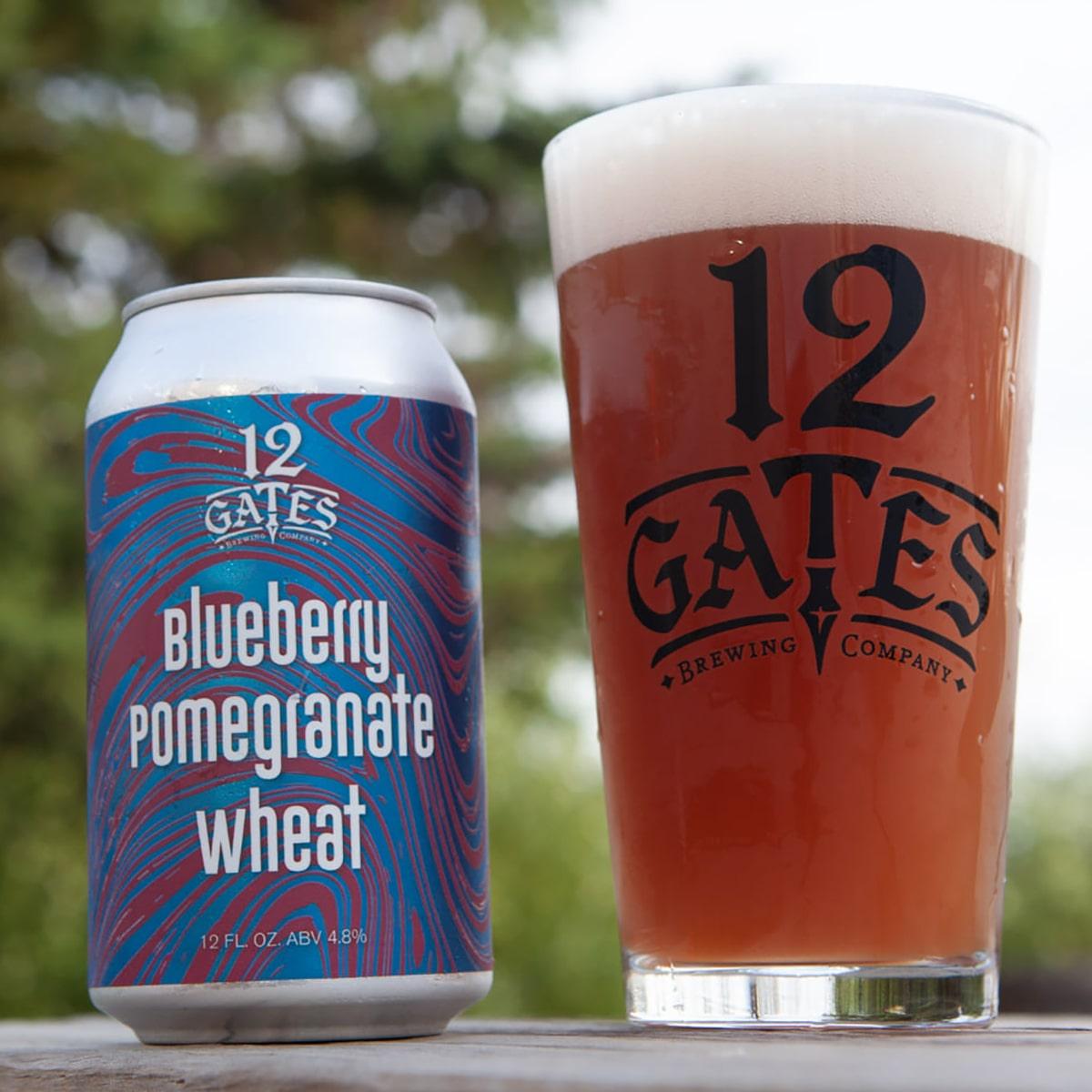Blueberry Pomegranate Wheat - American Wheat Ale - 12 Gates - Buffalocal