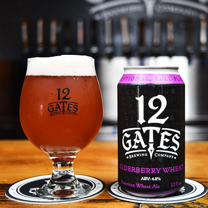 Elderberry Wheat Ale - 12 Gates Brewing - Buffalocal