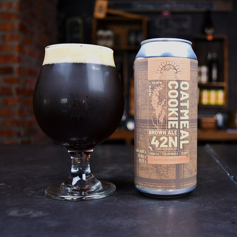 Oatmeal Cookie - English Brown Ale - 42 North - Buffalocal