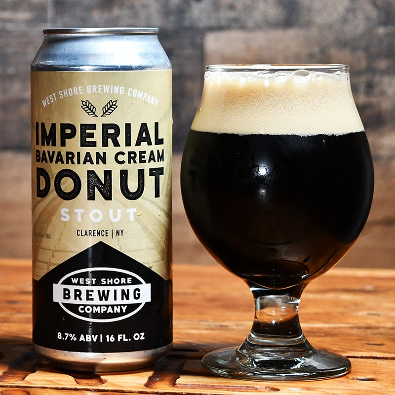 Imperial Bavarian Cream Donut Stout - West Shore Brewing - Buffalocal
