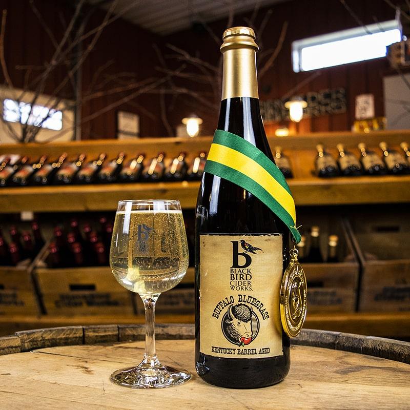 Buffalo Bluegrass Kentucky Barrel Aged Hard Cider - Bottles - Black Bird Cider Works - Buffalocal