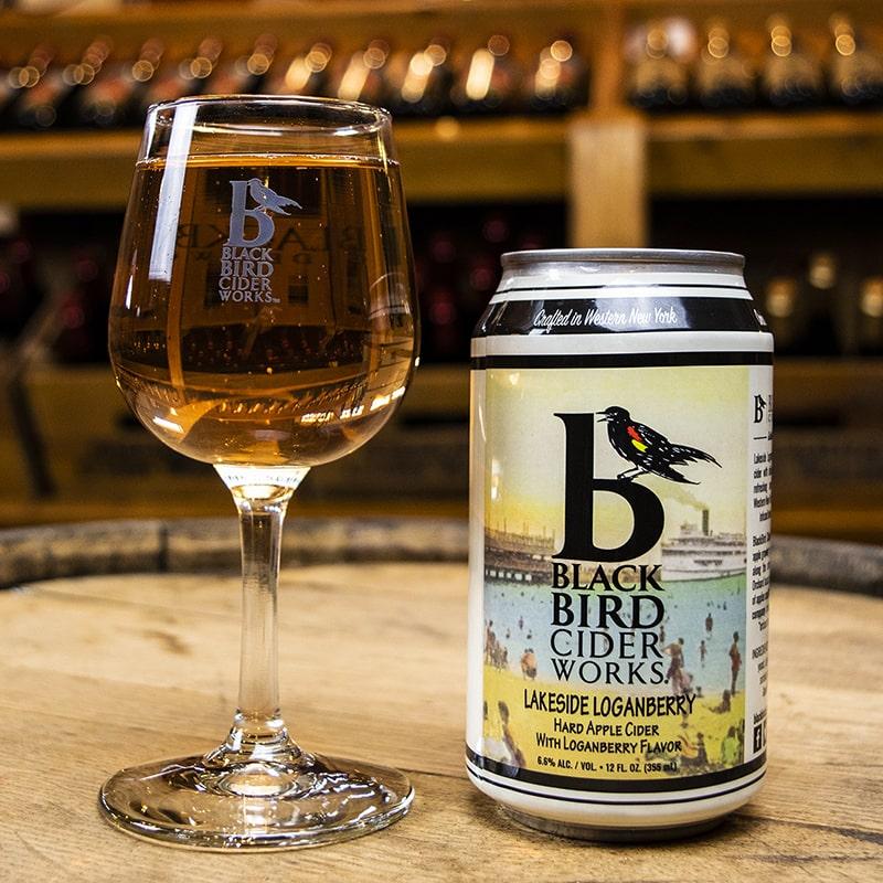 Lakeside Loganberry Hard Cider - Black Bird Cider Works - Buffalocal