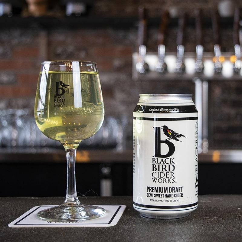 Premium Draft Semi Sweet Hard Cider - Black Bird Cider Works - Buffalocal