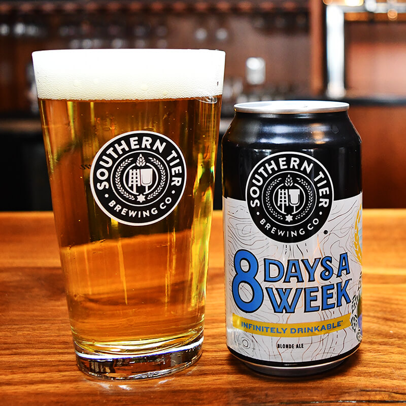 8 Days a Week Blonde Ale - Southern Tier Brewing - Buffalocal