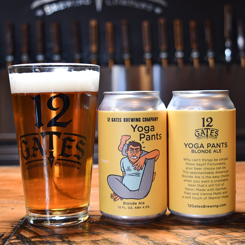 Yoga Pants Blonde Ale - 42 North - Buffalocal