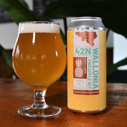 Wallonia Pineapple Wit - Belgian Fruited Wit - 42 North - Buffalocal