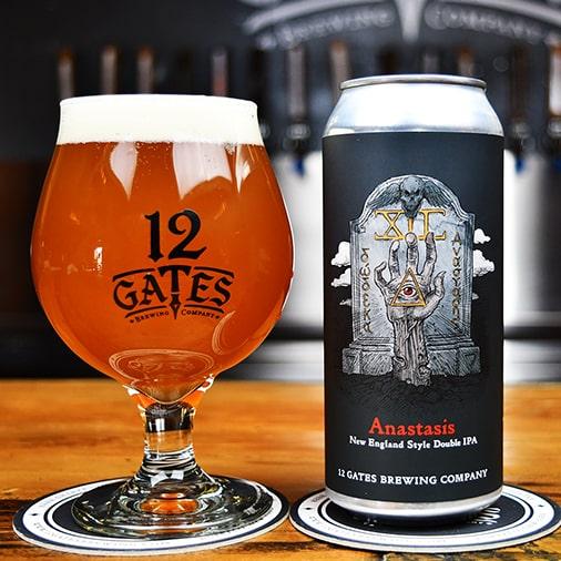 Anastasis New England Double IPA - 12 Gates Brewing - Buffalocal