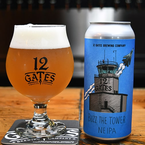 Buzz the Tower New England IPA - 12 Gates Brewing - Buffalocal