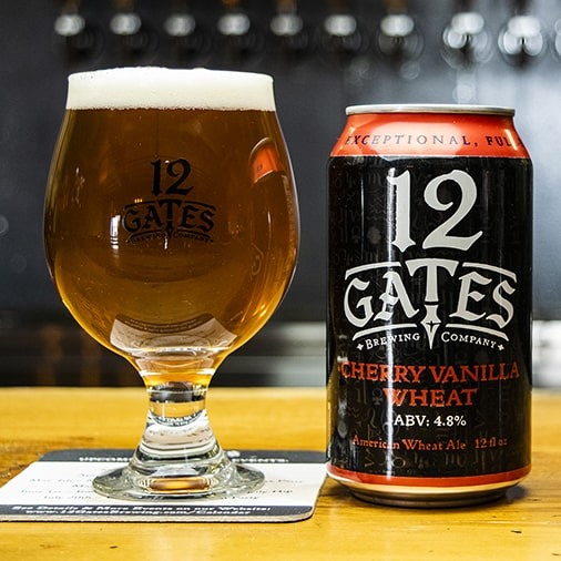 Cherry Vanilla Wheat Ale - 12 Gates Brewing - Buffalocal