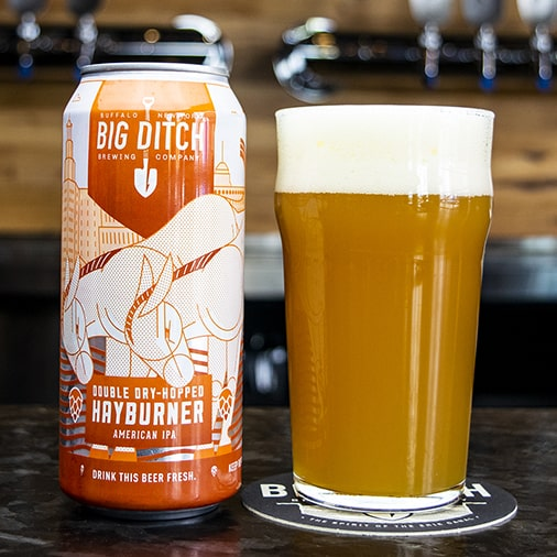 Double Dry-Hopped Hayburner American IPA - Big Ditch Brewing - Buffalocal