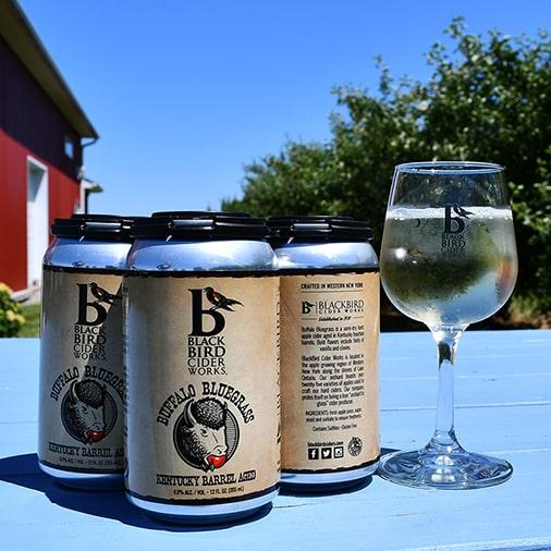 Buffalo Bluegrass Kentucky Barrel Aged Hard Cider - Cans - Black Bird Cider Works - Buffalocal
