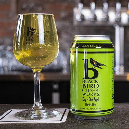 Dry Oak Aged Hard Cider - Black Bird Cider Works - Buffalocal