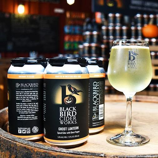 Ghost Lantern Spiced Hard Cider with Ghost Pepper - Black Bird Cider Works - Buffalocal