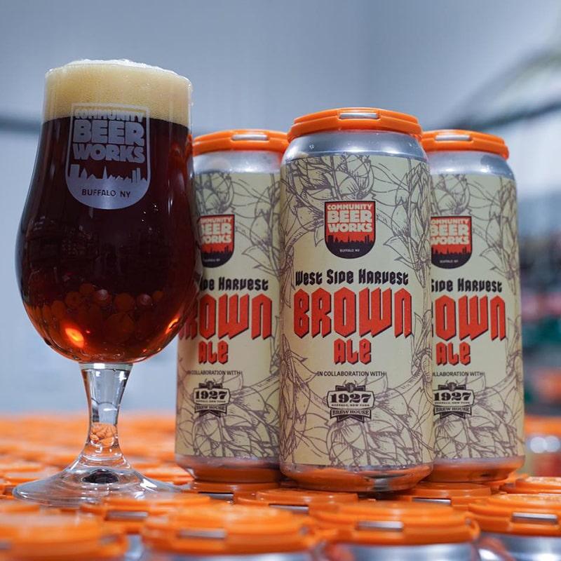 West Side Harvest Brown Ale - Community Beer Works - Buffalocal