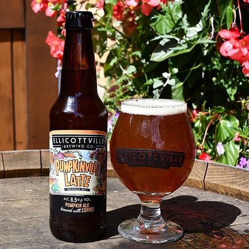 Pumpkinville Latte Blonde Ale - Ellicottville Brewing - Buffalocal