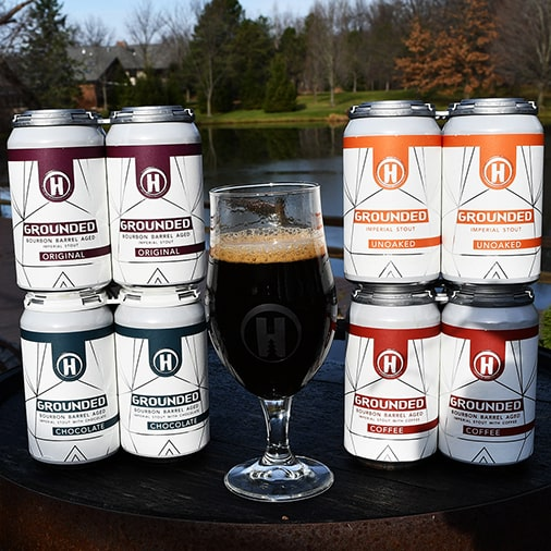 Grounded Imperial Stout - Bourbon Barrel Aged - Bourbon Barrel Aged with Chocolate - Unoaked - Bourbon Barrel Aged with Coffee - Hamburg Brewing - Buffalocal