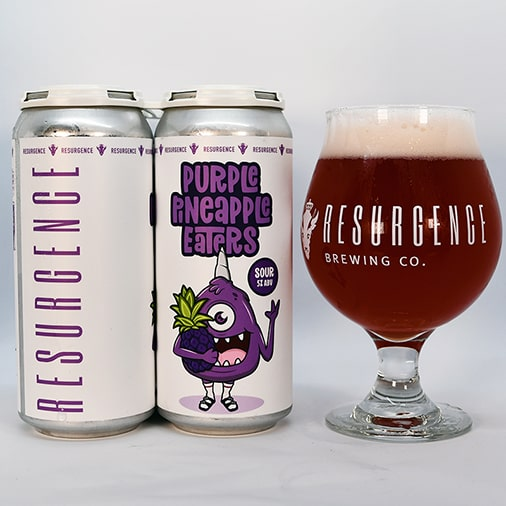 Purple Pineapple Eaters Sour - Resurgence Brewing Co - Buffalocal