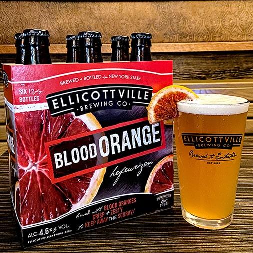 Blood Orange Hefeweizen - Ellicottville Brewing Co - Buffalocal